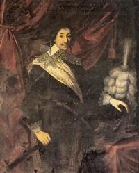 portrait de bernard duc d'epernon de la vallette by louis testelin