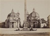 piazza del popolo, rome (4 works) by tommaso cuccioni