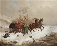 an unsuccessful sledge ride by wenzel kroupa