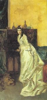 dama en el salón by juan alaminas