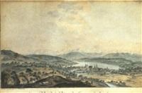 vue de la ville et des environs de zurich by heinrich freudweiler