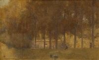 autumn - fitzroy gardens, melbourne by tom roberts