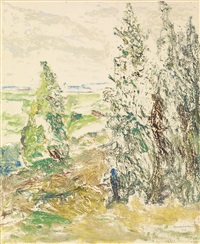 untitled (landscape) by beauford delaney