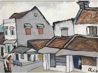 street scene, hanoi by bui xuan phai