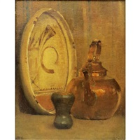 indian pottery and copper kettle by anna richards brewster