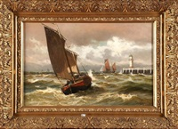 bateaux de pêche à blankenbergh by conrad hans selmyhr