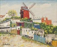 montmartre, le moulin de la galette by elisée maclet