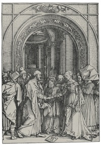 the betrothal of the virgin (from the life of the virgin) by albrecht dürer