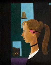 portret oglądany przez kota, by kazimierz mikulski