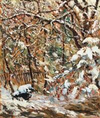 tél nagybányán (winter in nagybánya) by albert paál