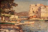 paysage de la côte varoise, fort saint-louis au mourillon, près de toulon by charles cousin