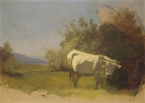 kuh in landschaft by johann rudolf koller