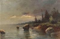 nokturn z kamieniami na brzegu by r.d. laborieux