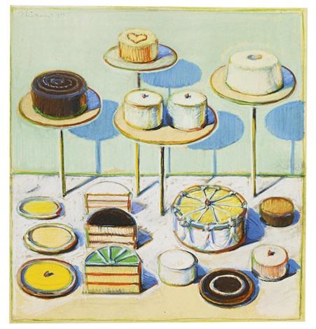 Cake Artist Job Description : CAKES NO. 1 by Wayne Thiebaud on artnet