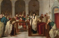 in the synagogue by edouard moyse