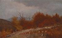 mountain pasture, autumn by jervis mcentee