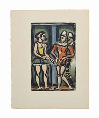 frontispiece - parade, from: cirque de l'étoile filante by georges rouault
