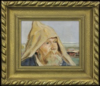 old man in a hood by vlastimil hofmann