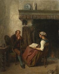 la lecture by jules breton