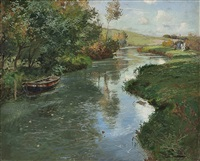 river landscape by frits thaulow
