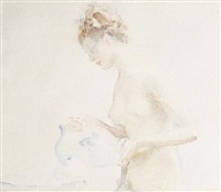 girl washing by walter ernest webster