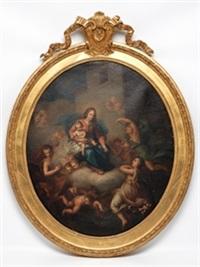 virgen con el niño y ángeles by d. francisco bayeu y subias
