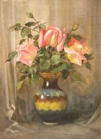 chodkowski_waclaw róże w wazonie by waclaw kodkowski