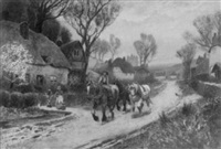 an april morning - going to work by adelaide haslegrave