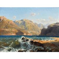 lac suisse. vagues by alexandre calame