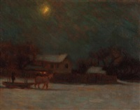 the old farm, moonlight by beatrice hagarty robertson