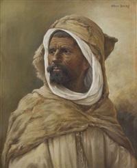 portrait d'un berbère by albert baure