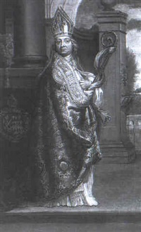 portrait of john gilbert, bishop of salisbury (1693-1761) by willem verelst