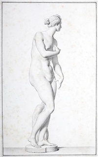 the venus de medici (study) by giovanni domenico campiglia