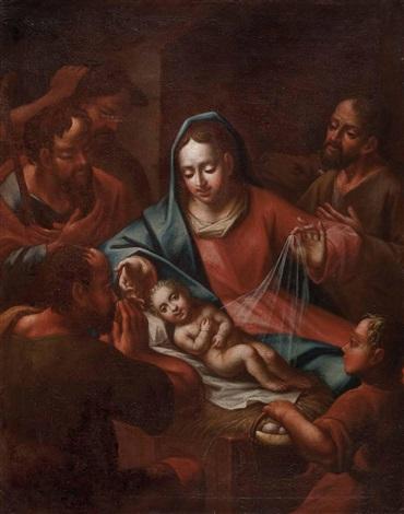 die anbetung des christuskindes durch die hirten by austrian school 17