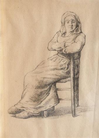 portrait au crayon dune paysanne by jean françois millet