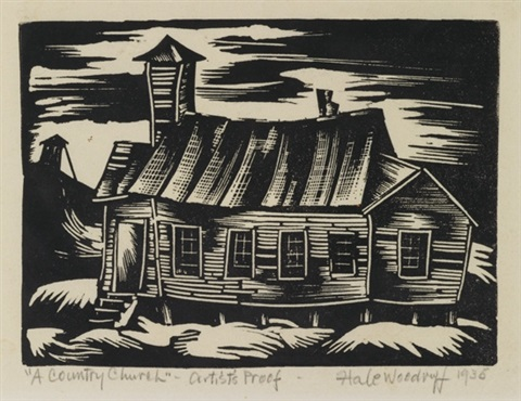 a country church (from atlanta period series) by hale aspacio woodruff