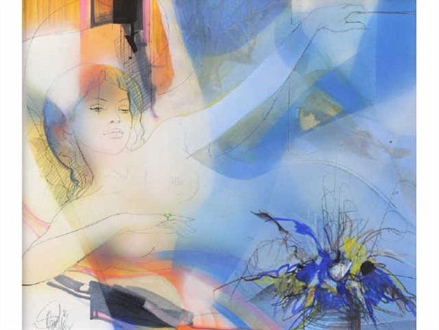 femme nue allongée by jean baptiste valadie