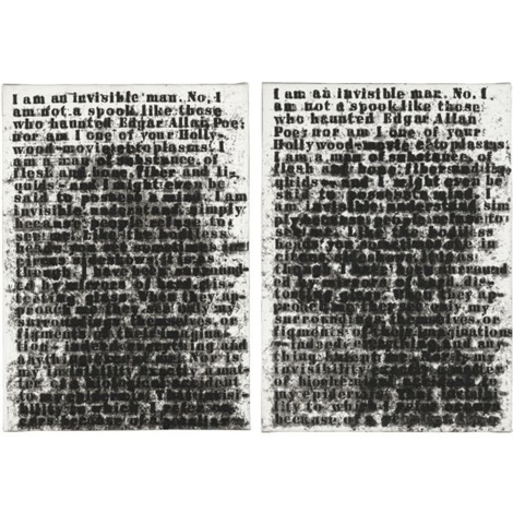 invisible man two views in 2 parts by glenn ligon