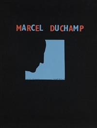autoportrait de profil (fond bleu) by marcel duchamp