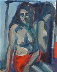 woman in red skirt by brian ballard