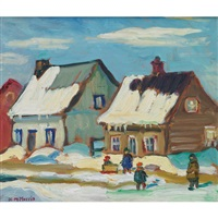 children playing on a winter day by kathleen moir morris