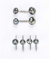 cufflinks (+ shirt studs, set of 5) by trianon (co.)