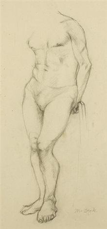 nude study another 2 works by robert macbryde