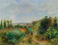 paysage à cagnes by pierre-auguste renoir
