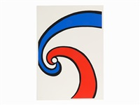 red and blue wave by alexander calder