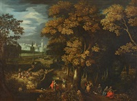 a park landscape with courtly figures by anonymous-flemish (17)