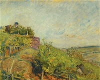 pfälzische weinernte (wine harvest in the palatinate) by max slevogt