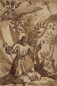 saint françois recevant les stigmates by jacopo (da empoli) chimenti