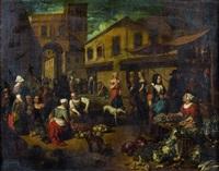 scène de marché by matheus van helmont