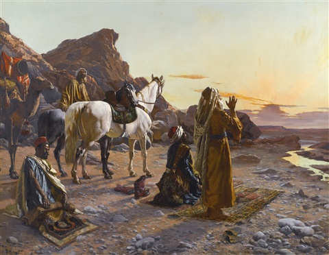 prayers at sunrise by rudolf ernst